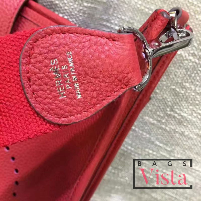 Hermes Red Evelyne GM Shoulder Bag