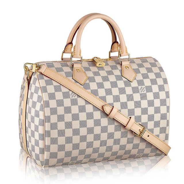 Damier Azur Speedy 30 with Shoulder Strap