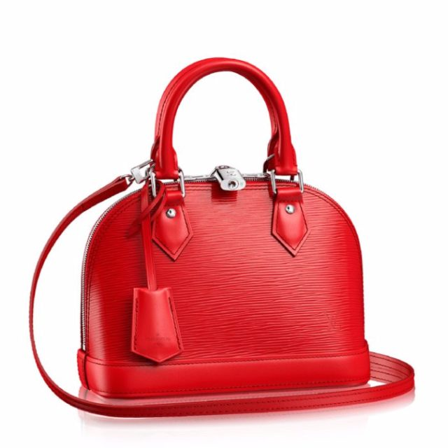 Louis Vuitton Epi Leather Alma BB Coquelicot