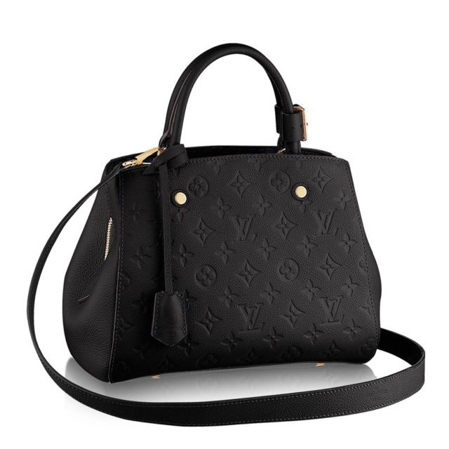 Louis Vuitton Monogram Empreinte Montaigne BB Black