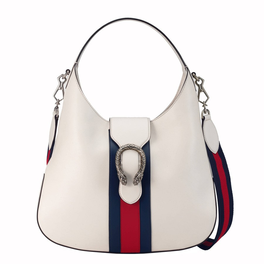 Gucci  Dionysus Leather White Hobo