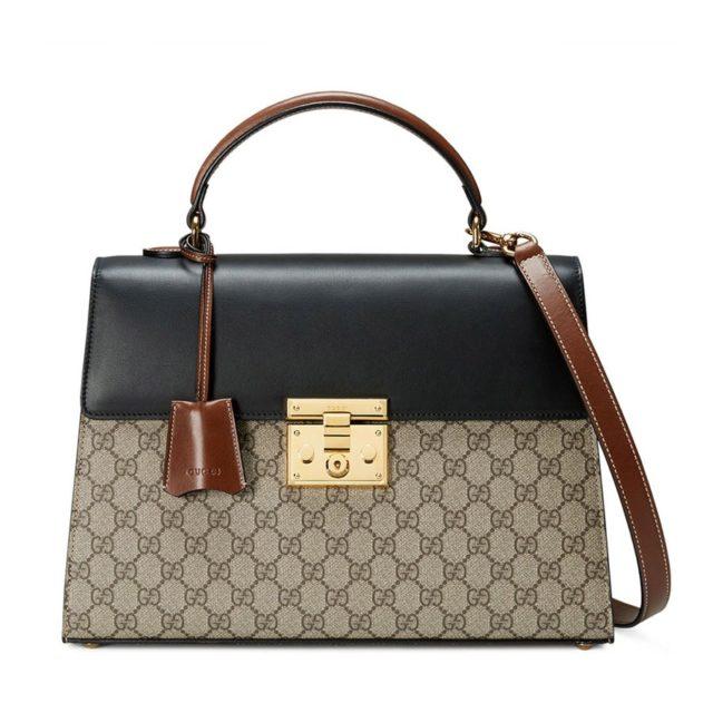 Gucci Padlock GG Supreme Bag Beige
