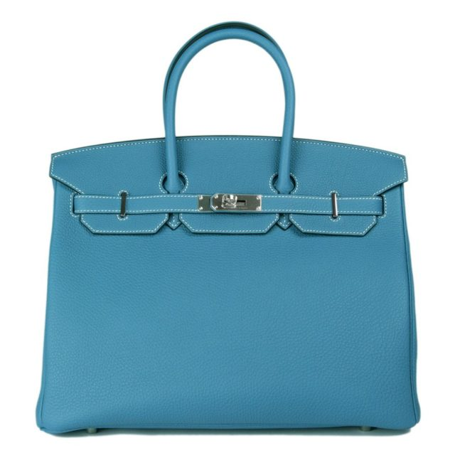Hermes Birkin 35 Blue Bag