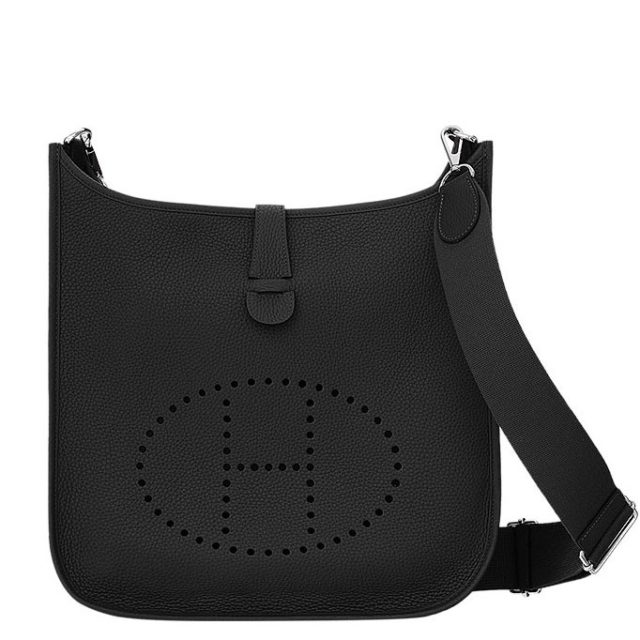 Hermes Black Evelyne GM Shoulder Bag