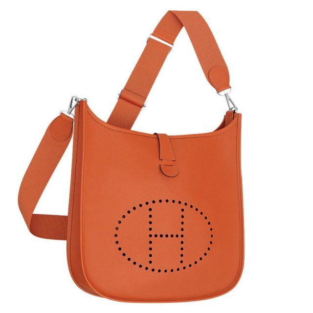 Hermes Orange Evelyne GM Shoulder Bag
