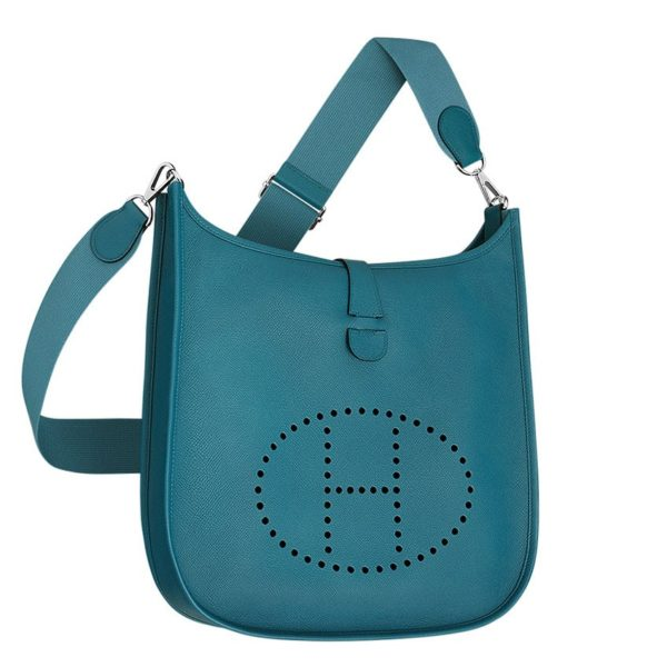 Hermes Blue Evelyne GM Shoulder Bag