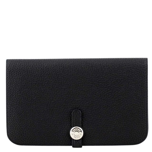 Hermes Dogon Black Wallet