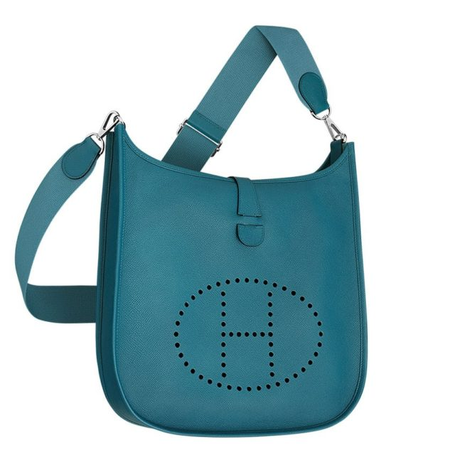 Hermes Blue Evelyne PM Shoulder Bag
