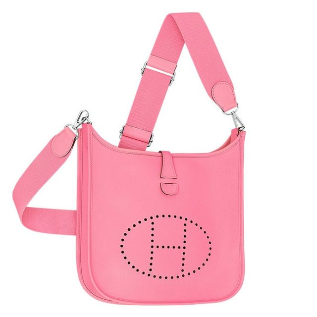 Hermes Pink Evelyne PM Shoulder Bag