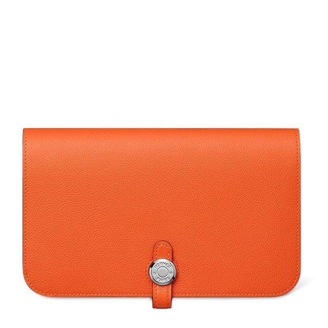 Hermes Dogon Orange Wallet
