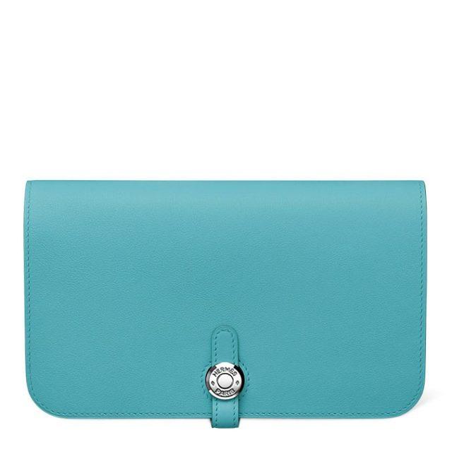 Hermes Dogon Blue Wallet
