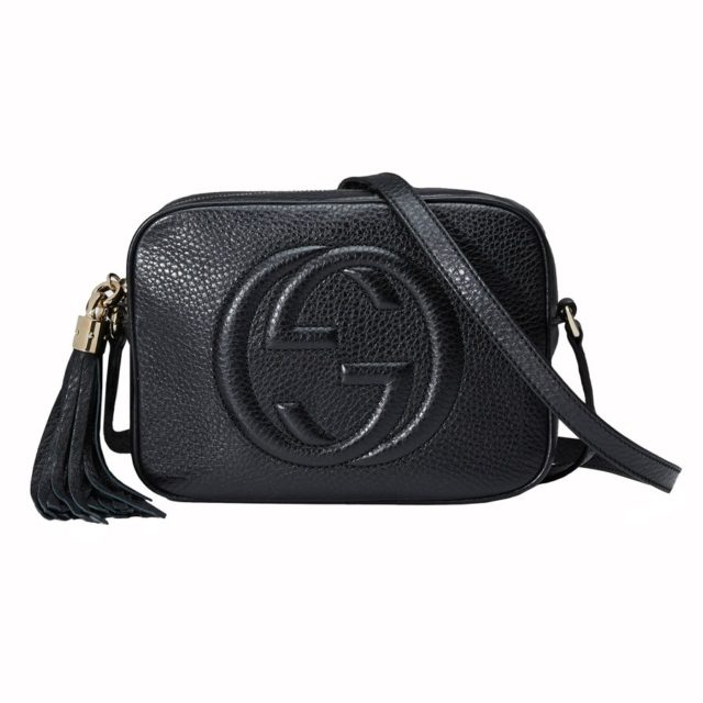 Gucci Soho Black Calfskin Leather Disco Bag