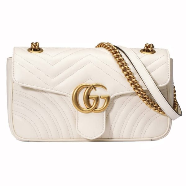 Gucci GG Marmont Matelasse White Bag
