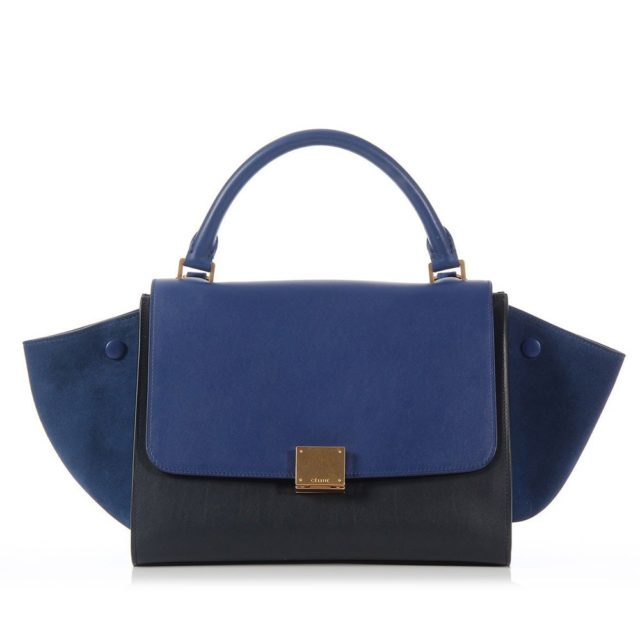 Celine Small Trapeze Blue and Black