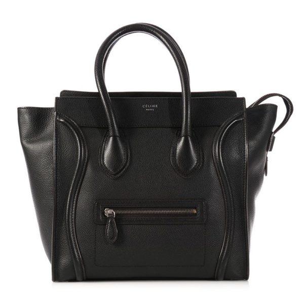 Celine Nano Luggage Black Bag