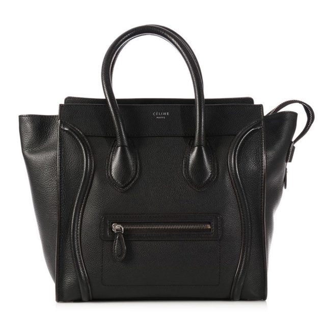 Celine Nano Luggage Black Bag