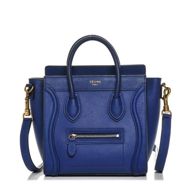 CELINE Nano Luggage Blue