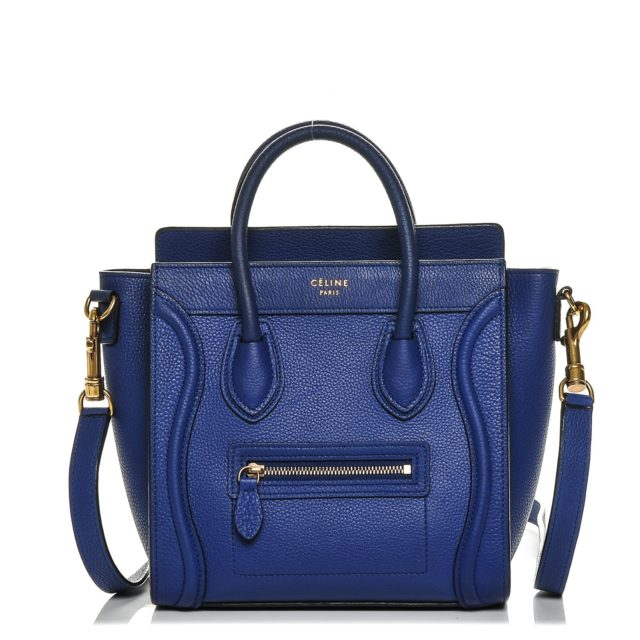 CELINE Nano Luggage Blue