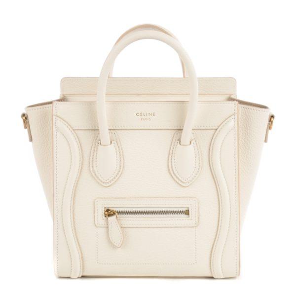 CELINE Nano Luggage White