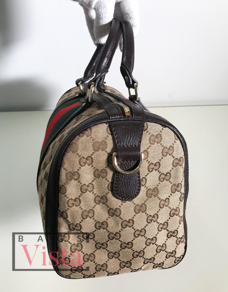 Gucci Vintage Web Medium Boston Bag