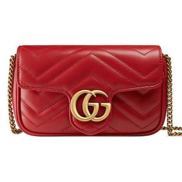 Gucci GG Marmont Matelasse Mini Red Bag