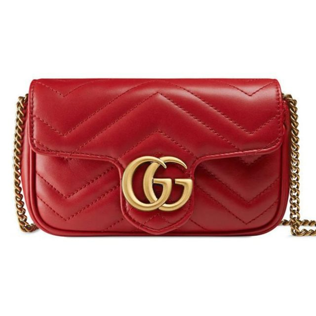 Gucci GG Marmont Matelasse Mini Red Bag