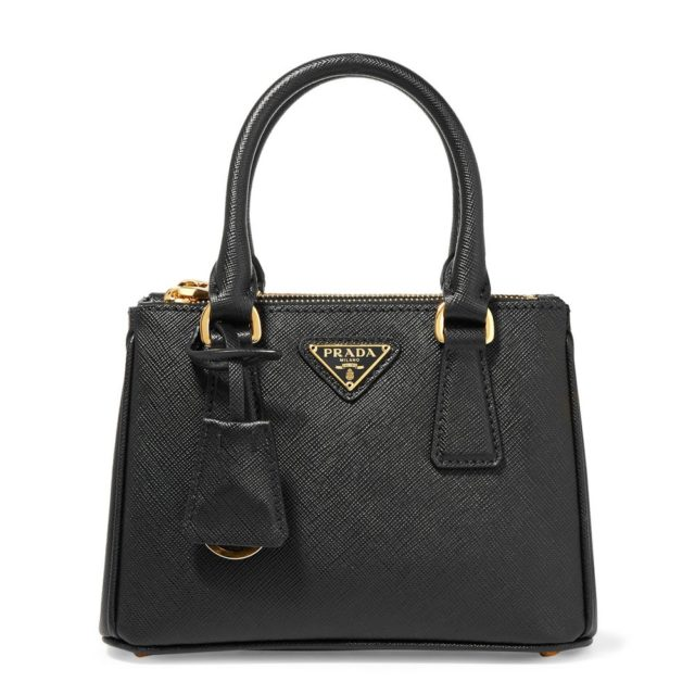Prada Saffiano Mini Black Tote