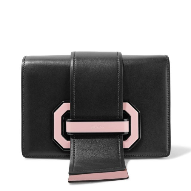 Prada Ribbon Plexi Pink Bag