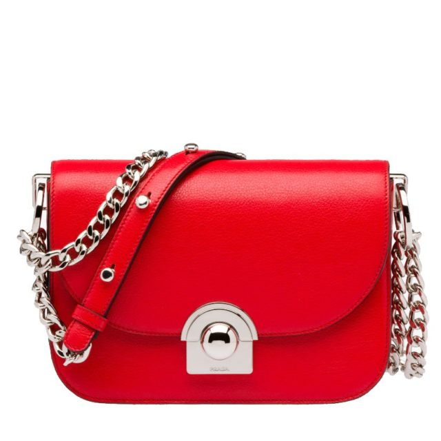 Prada Arcade Red Handbag