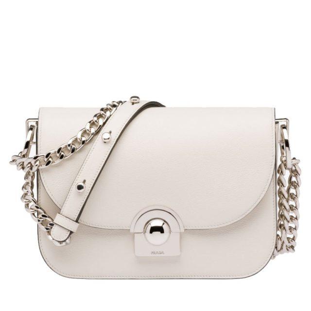 Prada Arcade White Handbag