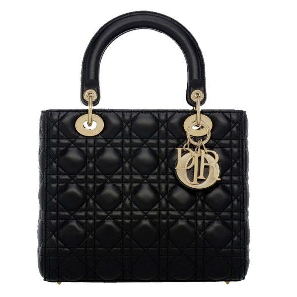 Small Lady Dior Black Bag