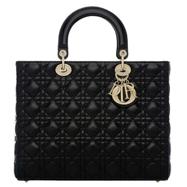 Lady Dior Large Lambskin Bag