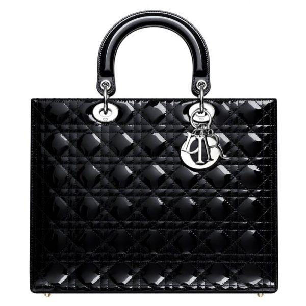 Lady Dior Large Patent Leather Bag