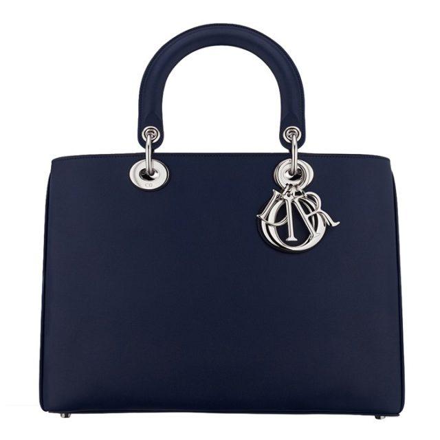 Dior Diorissimo Navy Blue Handbag