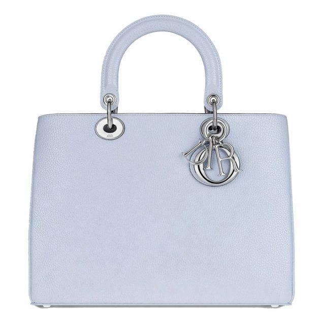 Dior Diorissimo Metallic Ciel Clair Bag