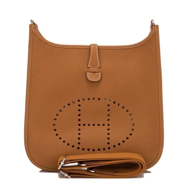 Hermes Gold Evelyne III PM Shoulder Bag