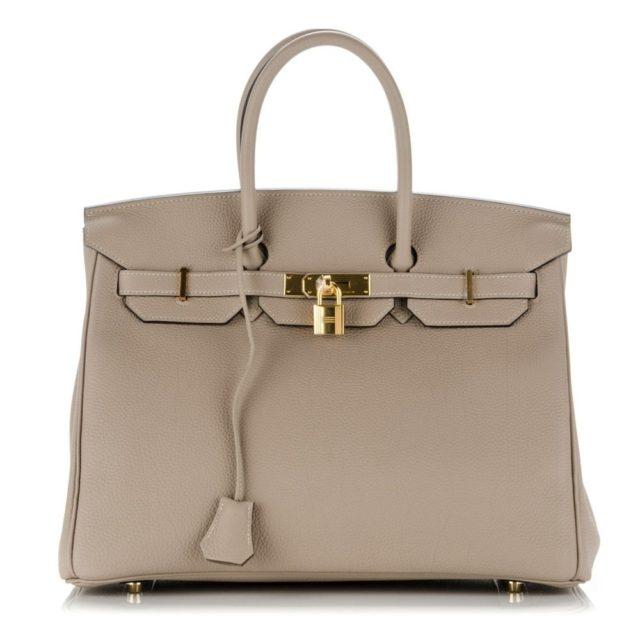 Hermes Birkin 35 Gris Tourterelle Togo Bag