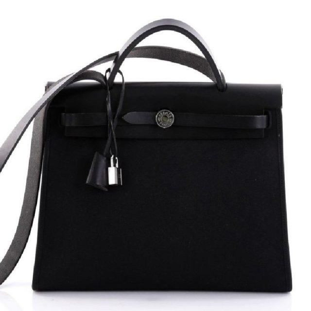 Hermes Herbag Zip 31 Black