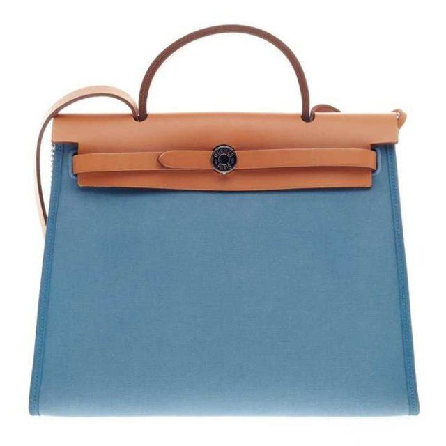 Hermes Herbag Zip 31 Blue