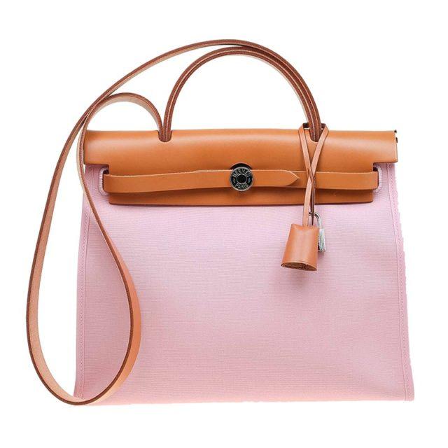 Hermes Herbag Zip 31 Pink