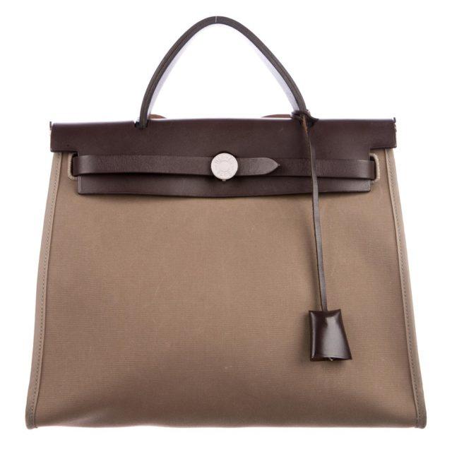 Hermes Herbag Zip 31 Brown