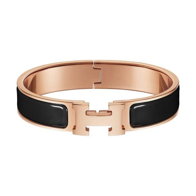 Hermes Black H Bracelet
