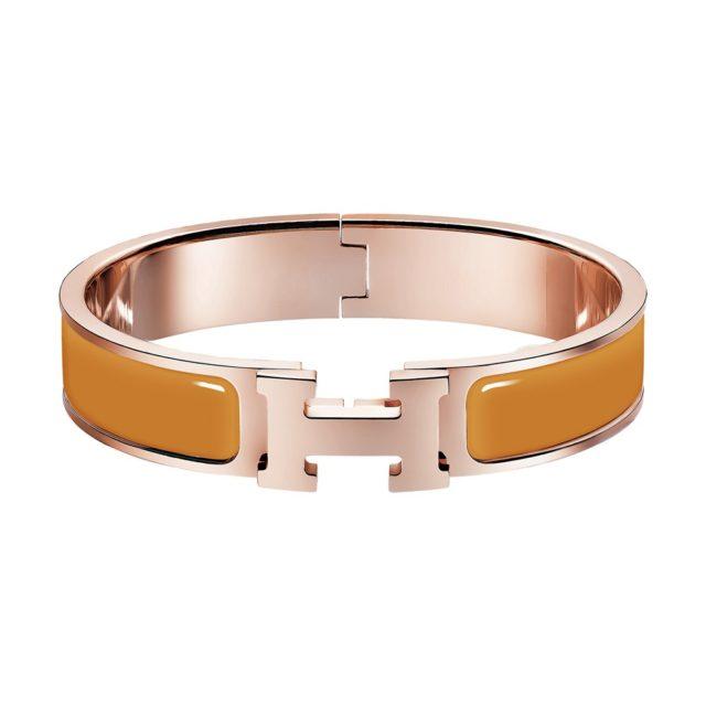 Hermes Yellow H Bracelet