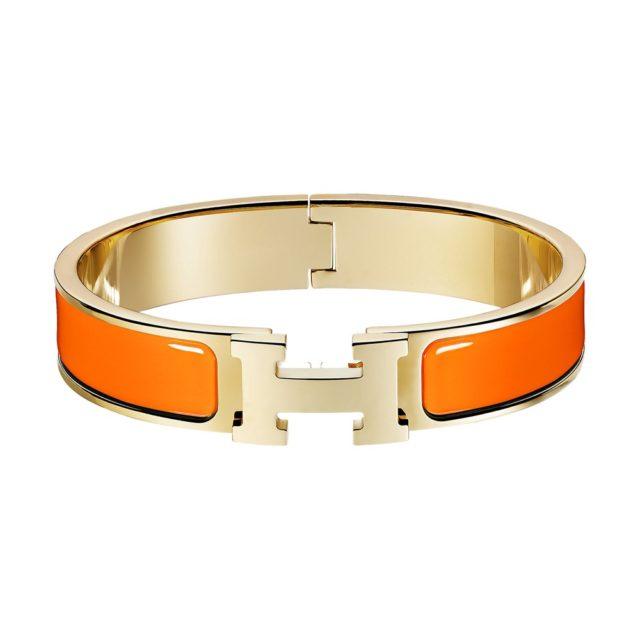 Hermes Orange H Bracelet
