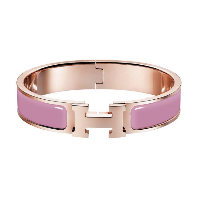 Hermes Pink H Bracelet