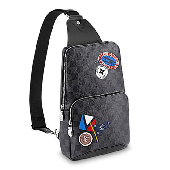 Louis Vuitton Avenue Sling Bag N41056 Damier Graphite Canvas
