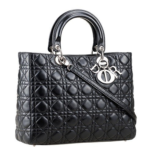 Dior Medium  Lady Cannage Bag Black