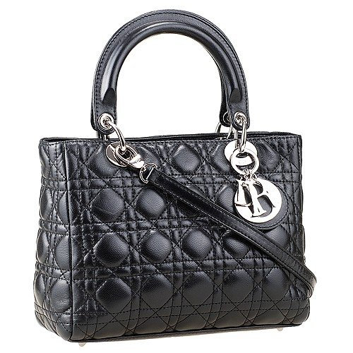 Dior Small  Lady Cannage Bag Black