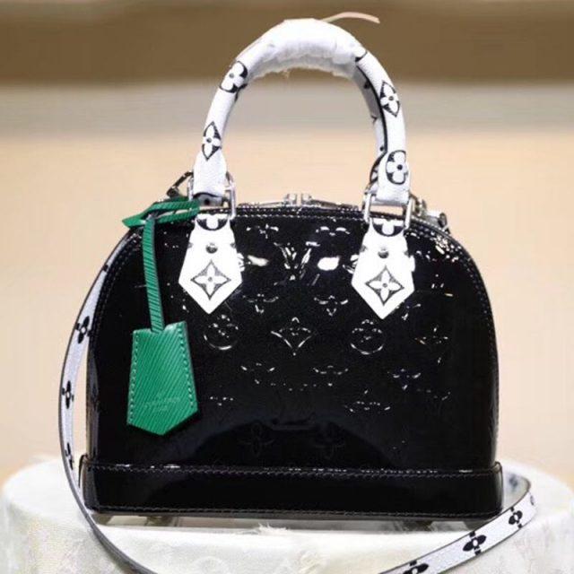 Louis Vuitton Alma BB in Monogram Vernis Leather M90447 Black 2019 (LVSJ-9043046 )