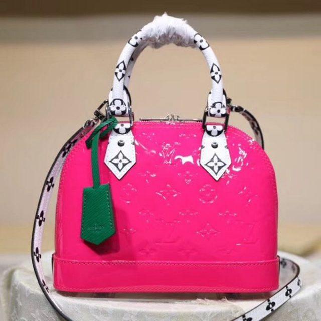 Louis Vuitton Alma BB in Monogram Vernis Leather M90447 Pink 2019 (LVSJ-9043047 )